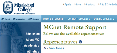 MCnet Remote Support Example